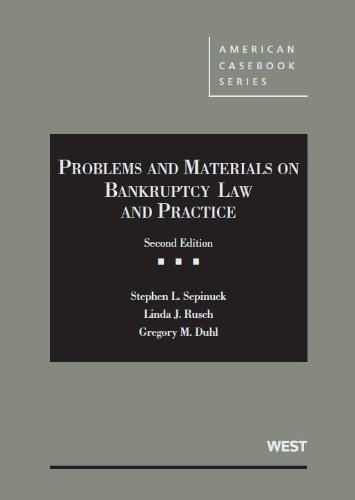 9780314281036: Problems and Materials on Bankruptcy (American Casebook Series)
