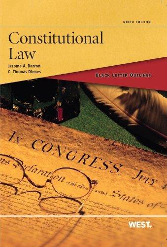 9780314281937: Black Letter Outline on Constitutional Law (Black Letter Outlines)
