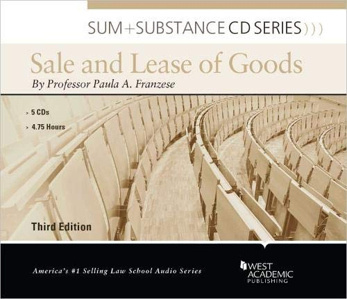 9780314282323: Sum and Substance Audio on the Sale and Lease of Goods