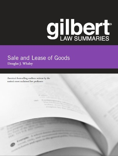 9780314282675: Gilbert Law Summaries on Sale and Lease of Goods