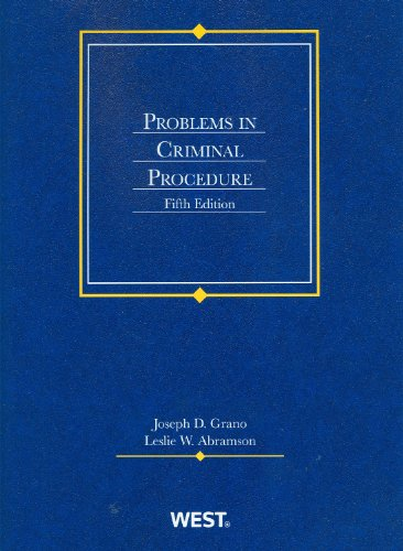9780314283269: Problems in Criminal Procedure, 5th Edition