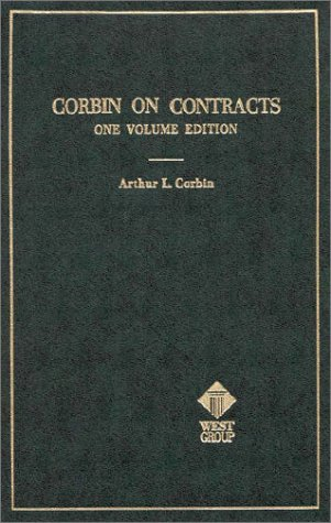 Corbin's Text on Contracts, Student Edition (Hornbook: Arthur L. Corbin