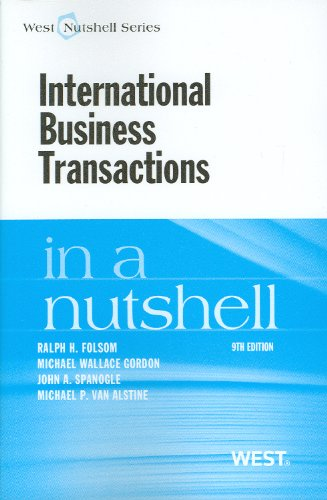 9780314284365: International Business Transactions in a Nutshell, 9th (In a Nutshell (West Publishing)) (West Nutshell) (Nutshells)