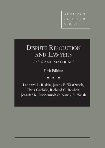 9780314285904: Dispute Resolution and Lawyers (American Casebook Series)