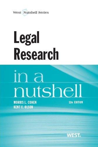 9780314286659: Legal Research in a Nutshell (Nutshells)