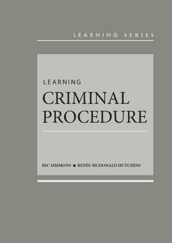 9780314286703: Learning Criminal Procedure (Learning Series)