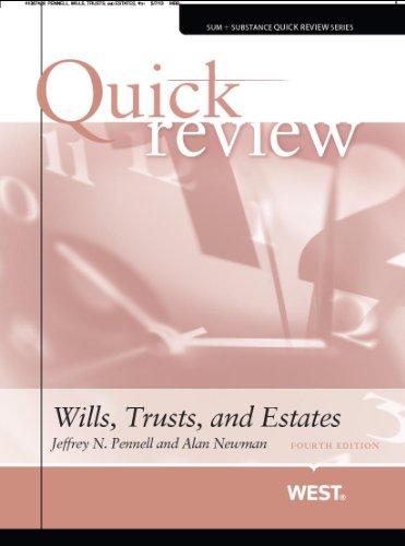 9780314286857: Quick Review of Wills, Trusts, and Estates, 4th (Quick Reviews)