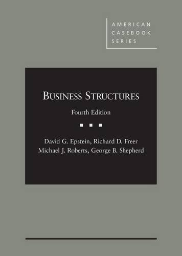 9780314287038: Business Structures (American Casebook Series)