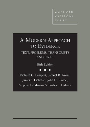 9780314287656: A Modern Approach to Evidence: Text, Problems, Transcripts and Cases, 5th (American Casebook Series)