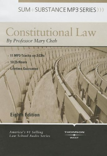 9780314287731: Constitutional Law (Sum + Substance) (Sum and Substance Audio)
