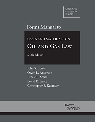 9780314287748: Forms Manual to Cases and Materials on Oil and Gas Law (Coursebook)