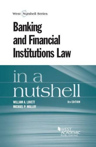 9780314288509: Banking and Financial Institutions Law in a Nutshell (Nutshells)