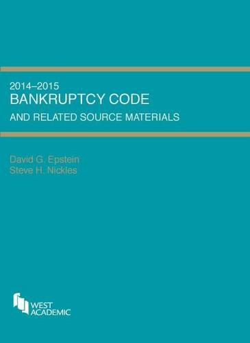 9780314288882: Bankruptcy Code and Related Source Materials (Selected Statutes)