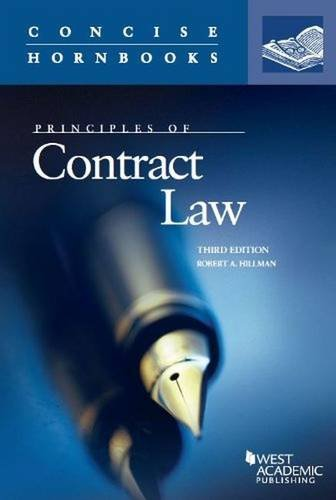 9780314288943: Principles of Contract Law (Concise Hornbook Series)