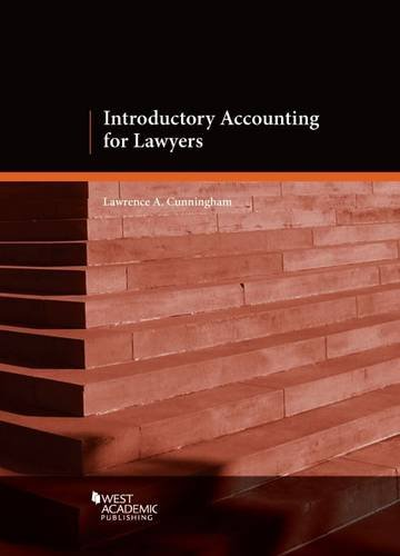 9780314290151: Introductory Accounting for Lawyers (Coursebook)