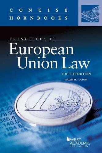 9780314290274: European Union Law (Concise Hornbook Series)