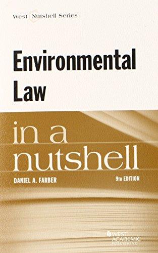 Environmental Law in a Nutshell (Nutshells): Farber, Daniel