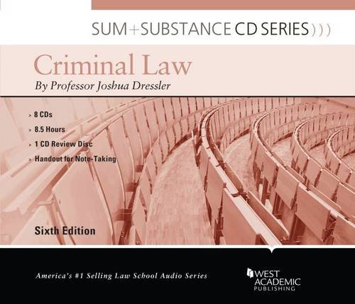 9780314291332: Sum and Substance Audio on Criminal Law