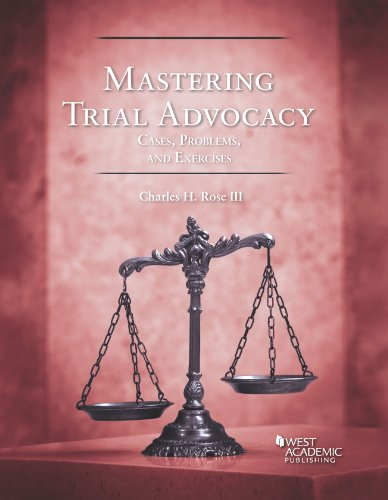 9780314291561: Mastering Trial Advocacy: Problems (Coursebook)
