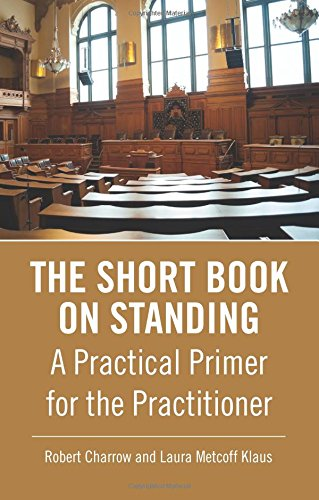9780314294609: The Short Book on Standing: A Practical Primer for the Practitioner