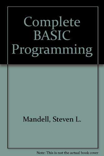 9780314321695: Complete BASIC programming