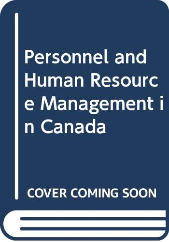 9780314324863: Personnel and Human Resource Management in Canada