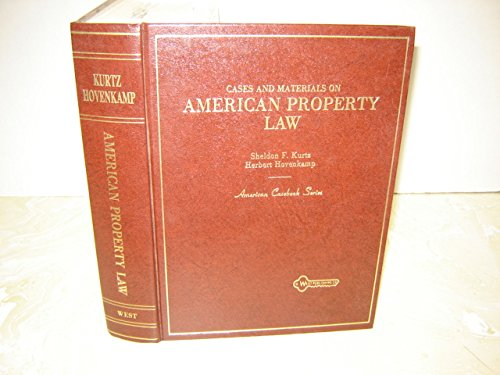 9780314328670: Cases and materials on American property law (American casebook series)
