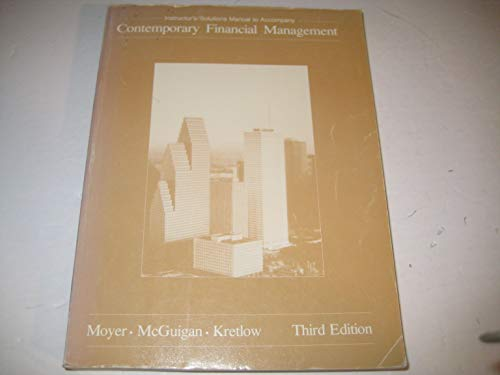 9780314337535: Instructor's/solutions manual to accompany contemporary financial management