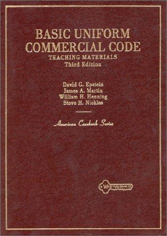 9780314364371: Basic Uniform Commercial Code Teaching Materials (American Casebook Series)