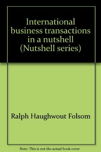 9780314408082: International business transactions in a nutshell (Nutshell series)