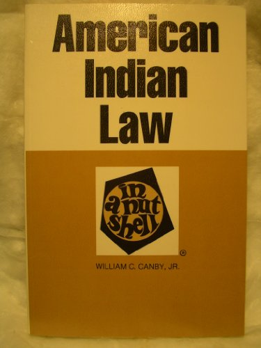 9780314411600: American Indian Law in a Nutshell (Nutshell Series)