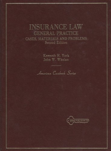 9780314414441: Cases, materials, and problems on general practice insurance law (American casebook series)