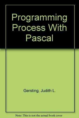 9780314445322: Programming Process with PASCAL