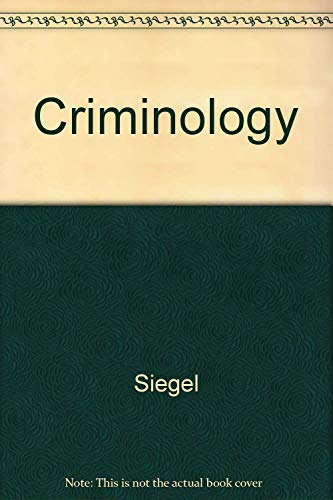 9780314452085: Criminology