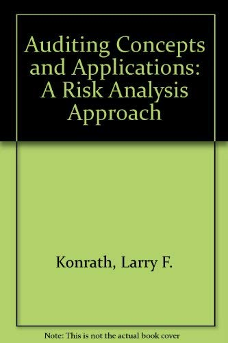 9780314463289: Auditing Concepts and Applications: A Risk Analysis Approach