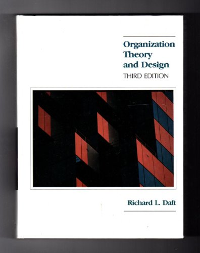 9780314463418: Organization Theory and Design