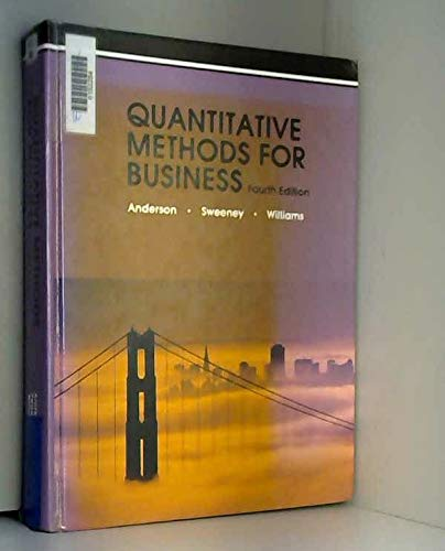 9780314469359: Quantitative Methods for Business