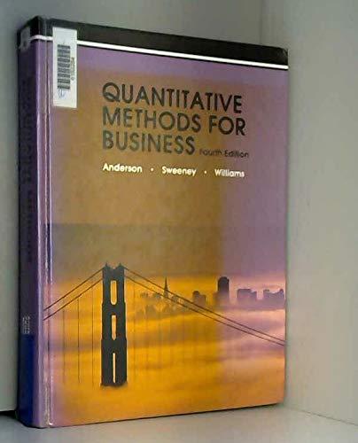 9780314469359: Quantitative Methods for Business, Fourth Edition