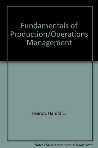 9780314470287: Fundamentals of Production/Operations Management
