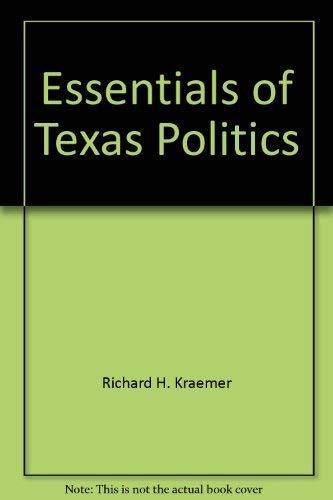9780314472168: Essentials of Texas politics