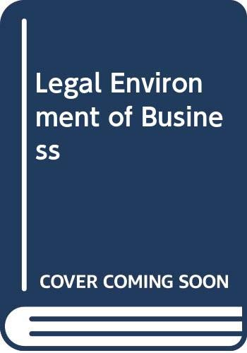 9780314481634: Legal Environment of Business