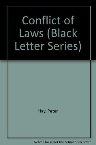 9780314531117: Conflict of Laws (Black Letter Series)