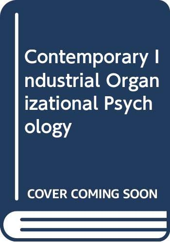 Contemporary Industrial/Organizational Psychology, 2nd: L. N. Jewell,