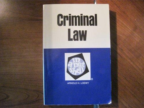 9780314585295: Criminal Law in a Nutshell (Nutshell Series)