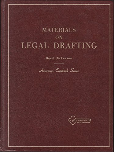 9780314586155: Materials on Legal Drafting (American Casebook)
