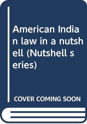 9780314594730: American Indian law in a nutshell (Nutshell series)