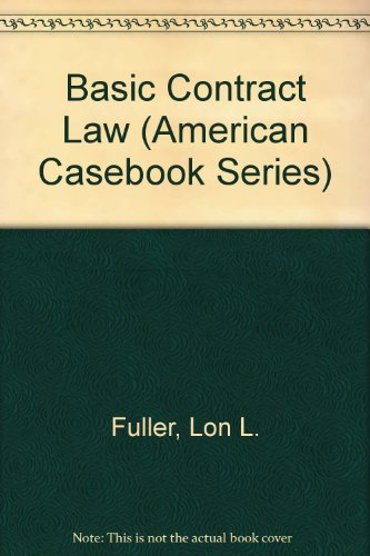 9780314598493: Basic Contract Law (American Casebook Series)