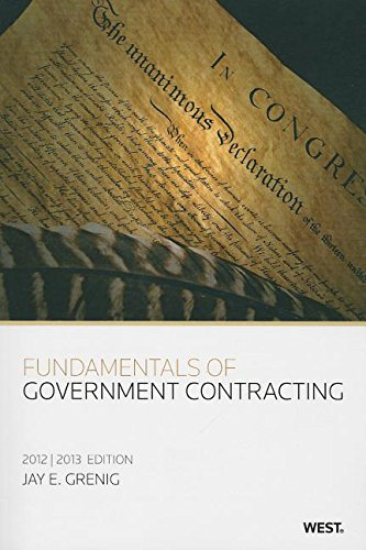9780314603043: Fundamentals of Government Contracting, 2012-2013