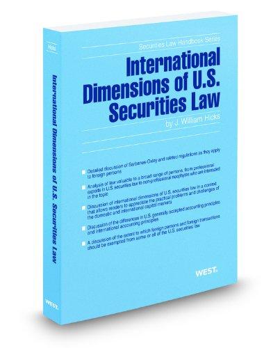 9780314607621: International Dimensions of U.S. Securities Law, 2011-2012 ed. (Securities Law Handbook Series)