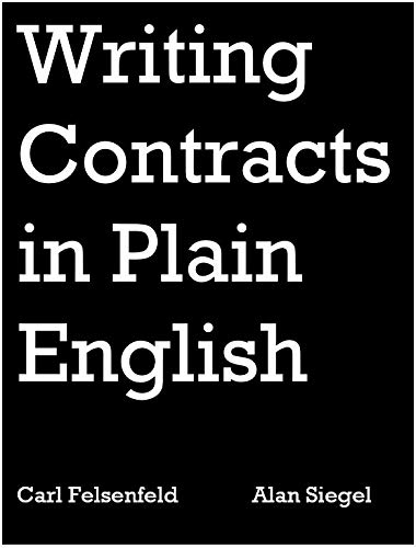 9780314608710: Writing Contracts in Plain English